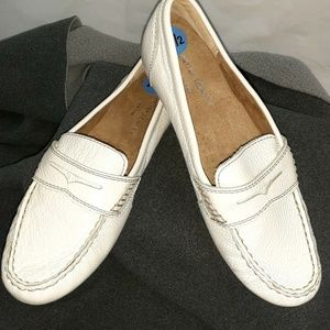 Cynthia Rowley White Leather Driving Moccasin